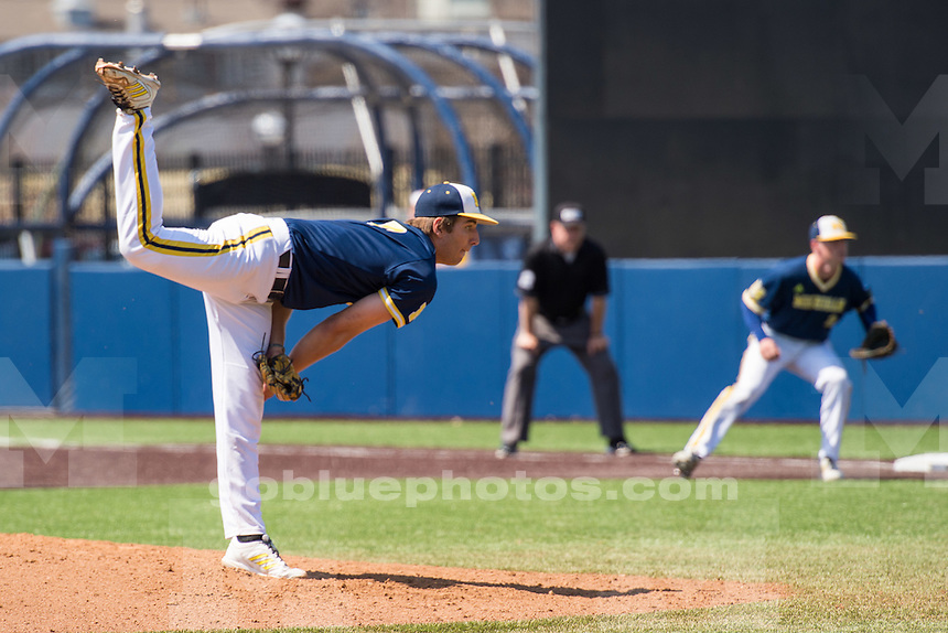 Michigan Baseball double header against Purdue at Ray Fischer baseball stadium in Ann Arbor, MI, on Apr. 18, 2015.