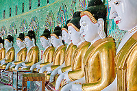 Myanmar, Burma.   Umin Thounzeh, Buddhist Shrine on Sagaing Hill, near Mandalay.