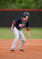 Lake Brantley Patriots Jimmy Howse (16) during a game against the Lake Mary Rams on April 2, 2015 at Allen Tuttle Field in Lake Mary, Florida.  Lake Brantley defeated Lake Mary 10-5.  (Mike Janes/Four Seam Images)