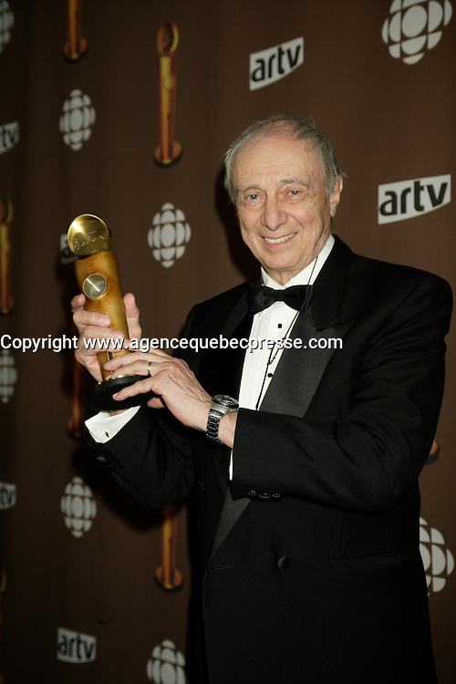Montreal (Qc) CANADA - March 29 2009 - Jutras award (for Quebec Cinema) : Fernand Dansereau - Jutra Hommage (lifetime tribute)