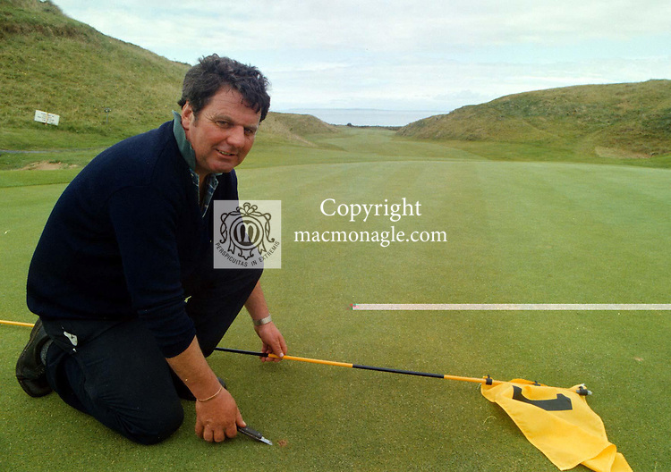 Ballybunion Golf Course Head Greenkeeper Dan Blake getting the course ready for the open..©Picture by Don MacMonagle.6 Port Road, Killarney Co. Kerry, Ireland.Tel: 00-353+64+32833.