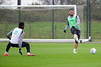 Cameron Carter-Vickers of Swansea City in action during the Swansea City Training at The Fairwood Training Ground in Swansea, Wales, UK. Tuesday 16 April 2019