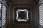 Detailview of the Eiffel tower in Paris, France