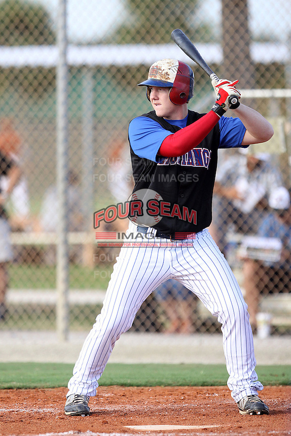 William Hollis, #20 of McKinney Boyd High School, TX for the Dallas Mustangs Team during the WWBA World Championship 2013 at the Roger Dean Complex on October 25, 2013 in Jupiter, Florida. (Stacy Jo Grant/Four Seam Images)