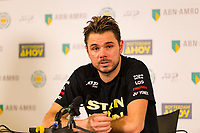 Rotterdam, The Netherlands, 16 Februari 2019, ABNAMRO World Tennis Tournament, Ahoy, Semis, Press Conference, Stan Wawrinka (SUI) winner,<br /> Photo: www.tennisimages.com/Henk Koster