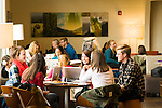 Studenst studying on campus at University of Portland.