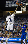 Nevada guard Corey Henson (2) shoots a layup against San Jose State in the first half of an NCAA college basketball game in Reno, Nev., Wednesday, Jan. 9, 2019. (AP Photo/Tom R. Smedes)