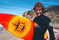Hot Buttered founder Terry Fitzgerald (AUS) at the 1980 Rip Curl Pro, Bells Beach, Torquay, Victoria Australia. Photo: joliphotos.com