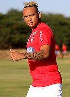 BARRANQUILLA - COLOMBIA - 05 - 01 -2017: Jarlan Barrera, player of Atletico Junior, during a training session. Photo: VizzorImage / Alfonso Cervantes / Cont.