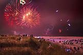 USA, Washington State, Long Beach Peninsula, International Kite Festival, fireworks show and lighted kite flying