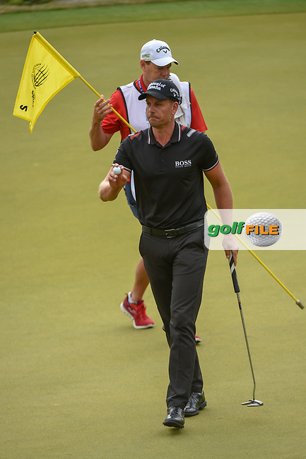 Henrik Stenson (SWE) after sinking his putt on 2 during day 4 of the WGC Dell Match Play, at the Austin Country Club, Austin, Texas, USA. 3/30/2019.<br /> Picture: Golffile | Ken Murray<br /> <br /> <br /> All photo usage must carry mandatory copyright credit (© Golffile | Ken Murray)