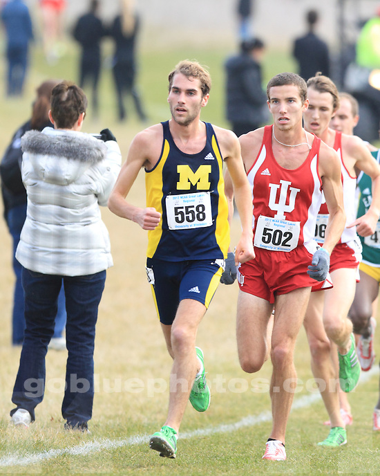 The University of Michigan men's cross country team finished as runner-up at the NCAA Great Lakes Regional Championships at the Zimmer Championship Course in Madison, Wisc., on November 9, 2012.