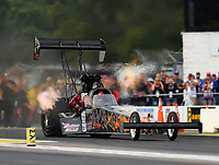 Aug 18, 2017; Brainerd, MN, USA; NHRA top fuel driver Rob Passey during qualifying for the Lucas Oil Nationals at Brainerd International Raceway. Mandatory Credit: Mark J. Rebilas-USA TODAY Sports