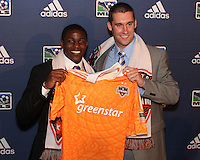 Kofi Sarkodie and Will Bruin at the 2011 MLS Superdraft, in Baltimore, Maryland on January 13, 2010.