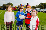 Enjoying the Tralee Rugby Club Family Fun Day at O'Dowd Park on Sunday were l-r  Holly McCoy, Kai Kelliher, Gavin Deasy and Kate Deasy.