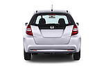 Straight rear view of a 2014 Honda Jazz s 5 Door Hatchback 2WD Rear View  stock images
