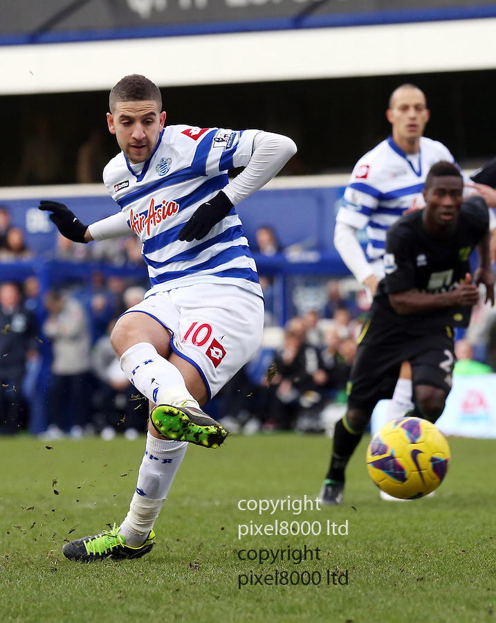 QPR v Norwich ..Adel Taarabt missed penalty ....Picture by Warren Allott/ Pixel 07917221968