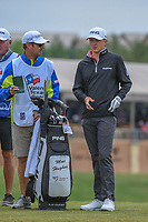 Mackenzie Hughes (CAN) looks over his tee shot on 11 during Round 2 of the Valero Texas Open, AT&T Oaks Course, TPC San Antonio, San Antonio, Texas, USA. 4/20/2018.<br /> Picture: Golffile | Ken Murray<br /> <br /> <br /> All photo usage must carry mandatory copyright credit (© Golffile | Ken Murray)