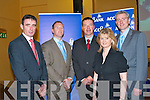 ACC BANK: Speakers at the ACC Bank Investment Property Outlook Seminar held at the Brandon Hotel on Thursday l-r: Andy Ivory-Core (Development Manger New Ireland), Kieran O'Shea, (Wealth ACC Kerry), Declan Crowe (Relationship Manager ACC Kerry), Marie Hunt (Head of Research CB Richard Ellis) and Kevin Wilson (Development Manger New Ireland).   Copyright Kerry's Eye 2008