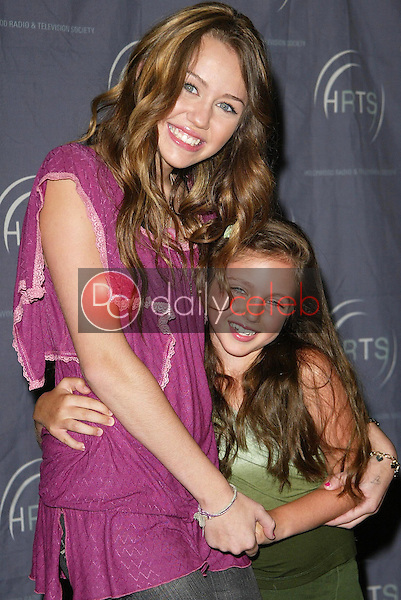 """Miley Cyrus and Ryan Newman<br />at the """"Kids Day 2006"""" presented by the Hollywood Radio and Television Society. Hollywood and Highland, Hollywood, CA. 08-02-06<br />Jason Kirk/DailyCeleb.com 818-249-4998"""
