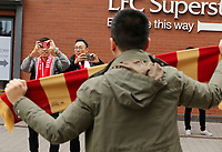 Fans pose for photos outside Anfield ahead of kick-off<br /> <br /> Photographer Rich Linley/CameraSport<br /> <br /> UEFA Champions League Semi-Final 2nd Leg - Liverpool v Barcelona - Tuesday May 7th 2019 - Anfield - Liverpool<br />  <br /> World Copyright © 2018 CameraSport. All rights reserved. 43 Linden Ave. Countesthorpe. Leicester. England. LE8 5PG - Tel: +44 (0) 116 277 4147 - admin@camerasport.com - www.camerasport.com