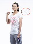 Red Bull Badminton player Tai Tzu Ying of Taiwan poses for a portrait session at the Kaohsiung National Sports Training Center, southern Taiwan. Photo by Victor Fraile / Power Sport Images