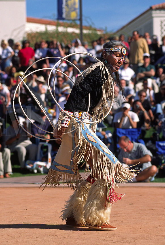 JONES BENALLY competes at the WORLD CHAMPIONSHIP HOOP DANCE CONTEST - HEARD MUSEUM, PHOENIX, ARIZONA