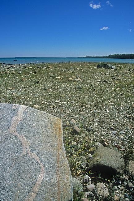 Lake Huron Retreating Shore