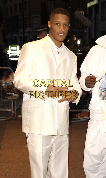 "ROMEO.""Rollin' With The Nines"" - UK premiere at the Odeon Leicester Square, London, UK..April 19th, 2006.Ref: CAN.half length white suit jacket.www.capitalpictures.com.sales@capitalpictures.com.©Capital Pictures"