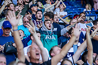 Tottenham Hotspur supporters during the Premier League match between Leicester City and Tottenham Hotspur at the King Power Stadium, Leicester, England on 21 September 2019. Photo by James  Gill / PRiME Media Images.