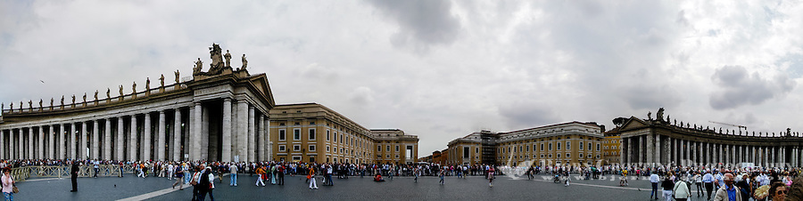 Italy, Rome. Panorama at Saint Peter's Square.