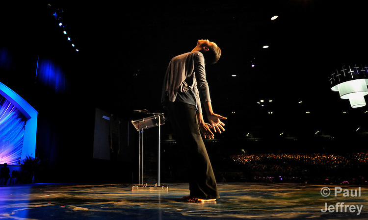 Dajhia Ingram Maddox dances during the 2010 United Methodist Women's Assembly in St. Louis, Missouri.