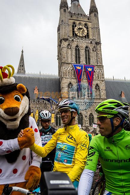 Vincenzo Nibali, Astana in Ypres, Tour de France, Stage 5: Ypres > Arenberg Porte du Hainaut, UCI WorldTour, 2.UWT, Wallers, France, 9th July 2014, Photo by Thomas van Bracht / Peloton Photos