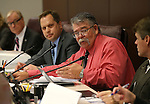 Nevada Sen. Pete Goicoechea, R-Eureka, works in committee at the Legislative Building in Carson City, Nev., on Tuesday, May 5, 2015. <br /> Photo by Cathleen Allison