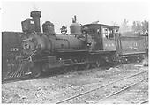 RGS 2-8-0 #42 in Ridgway.<br /> RGS  Ridgway, CO  Taken by Mead, Edgar T. - 1939