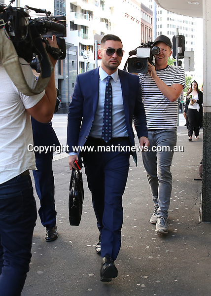 24 OCTOBER 2017 SYDNEY AUSTRALIA<br /> WWW.MATRIXNEWS.COM.AU<br /> <br /> EXCLUSIVE PICTURES<br /> <br /> Salim Mehajer pictured arriving on foot to John Maddison Tower.<br />  <br /> Note: All editorial images subject to the following: For editorial use only. Additional clearance required for commercial, wireless, internet or promotional use.Images may not be altered or modified. Matrix makes no representations or warranties regarding names, trademarks or logos appearing in the images.