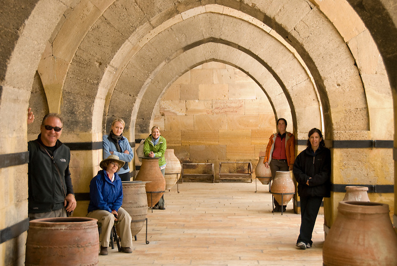 Inside Sultan Han, built between 1229 and 1236 by Seljuk Turks, it is a caravanserai on the Silk Road. These caravan way-stations provided food and shelter for merchants and camels as they plied their goods across Anatolia and beyond. Near Aksaray in the Cappadocia region.
