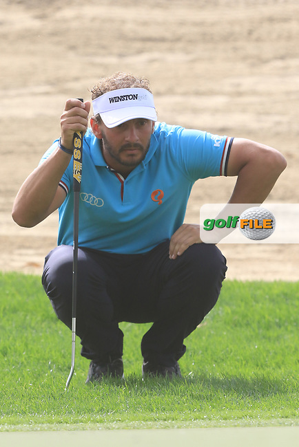 Joost Luiten (NED) on the 3rd green during Round 1 of the Omega Dubai Desert Classic, Emirates Golf Club, Dubai,  United Arab Emirates. 24/01/2019<br /> Picture: Golffile | Thos Caffrey<br /> <br /> <br /> All photo usage must carry mandatory copyright credit (© Golffile | Thos Caffrey)