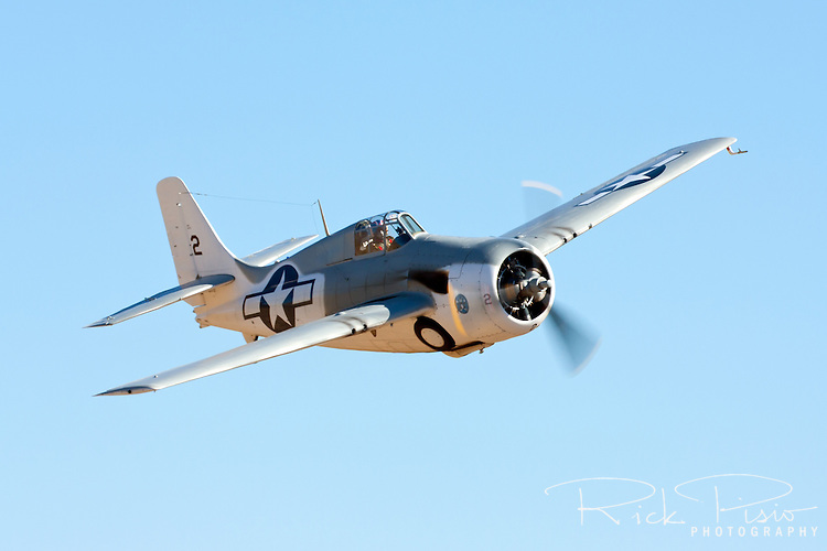 FM-2 Wildcat flies through the Valley of Speed during the 2010 Reno Air Races