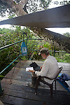 Scientist Conducting Experiment, Canopy Tower, Tiputini