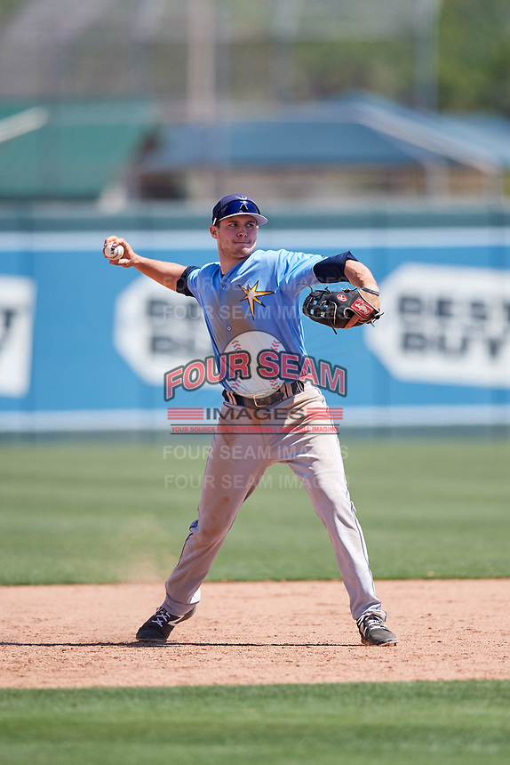 Tampa Bay Rays Seaver Whalen (79) during a Minor League Spring Training game against the Minnesota Twins on March 15, 2018 at CenturyLink Sports Complex in Fort Myers, Florida.  (Mike Janes/Four Seam Images)