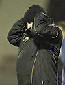 22/12/2007      Copyright Pic: James Stewart.File Name : sct_jspa27_motherwell_v_falkirk.MOTHERWELL MANAGER MARK MCGHEE WATCHES HIS TEAM BEATEN 3-0 BY FALKIRK.James Stewart Photo Agency 19 Carronlea Drive, Falkirk. FK2 8DN      Vat Reg No. 607 6932 25.Office     : +44 (0)1324 570906     .Mobile   : +44 (0)7721 416997.Fax         : +44 (0)1324 570906.E-mail  :  jim@jspa.co.uk.If you require further information then contact Jim Stewart on any of the numbers above.........