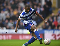 25th January 2020; Madejski Stadium, Reading, Berkshire, England; English FA Cup Football, Reading versus Cardiff City; Yakou Meite of Reading shoots and scores in the 8th minute 1-1