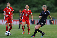 Katie Bowen of New Zealand Women's in action during the Women's International Friendly match between Wales and New Zealand at the Cardiff International Sports Stadium in Cardiff, Wales, UK. Tuesday 04 June, 2019