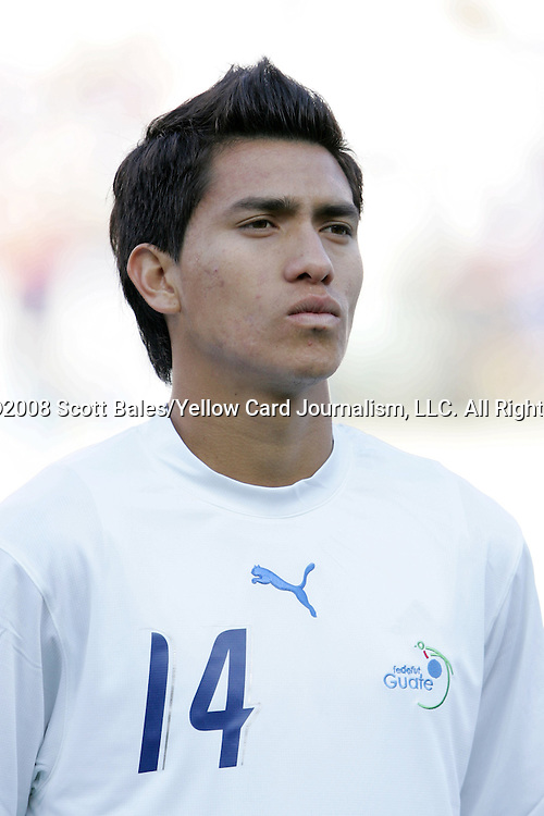 20 March 2008: Rafael Morales (GUA) (14). The Honduras U-23 Men's National Team defeated the Guatemala U-23 Men's National Team 6-5 on penalty kicks after a 0-0 overtime tie at LP Field in Nashville,TN in a semifinal game during the 2008 CONCACAF Men's Olympic Qualifying Tournament. With the penalty kick victory, Honduras qualifies for the 2008 Beijing Olympics.