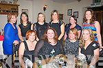 Party at Forty : Susan McGrath, Abbeydorney (2nd left) celebrated her 40th birthday last Saturday night in Bella Bia restaurant, Ivy Terrace, Tralee, enjoying the evening were, front l-r: Fiona Horan, Susan McGrath, Claire Fowler and Helen Leahy. Standing l-r: Noreen Maunsell, Sinead Purcell, Emer McGrath, Fiona Walsh, Martine McGrath with Brenda Walker.