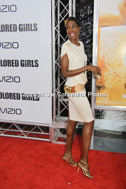 "Roshumba attending The New York Special Screening of Tyler Perry's next film ""For Colored Girls"" on October 25, 2010 at the Ziegfield Theater, New York City, New York. (Photo by Sue Coflin/Max Photos)"