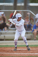 Anthony Fornero (22) during the WWBA World Championship at the Roger Dean Complex on October 12, 2019 in Jupiter, Florida.  Anthony Fornero attends Lemont Twp High School in Lemont, IL and is committed to Evansville.  (Mike Janes/Four Seam Images)