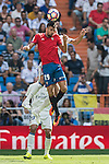 Kenan Kodro of Osauna in action during the La Liga match between Real Madrid and Osasuna at the Santiago Bernabeu Stadium on 10 September 2016 in Madrid, Spain. Photo by Diego Gonzalez Souto / Power Sport Images