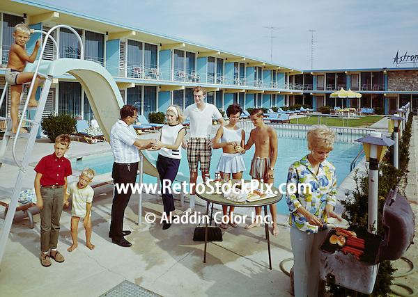 Bonanza Motel, Wildwood, NJ 1965 BBQ by the Pool